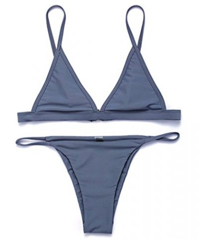 RELTANGL Womens 2 Pcs Bikini Triangle Top Brazilian Bottom Swimwear Bikini Set 0