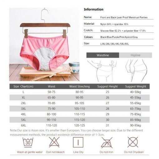 DULASI 3pcs Leak Proof Menstrual Panties Physiological Pants Women Underwear Period Cotton Waterproof  Briefs Dropshipping 6