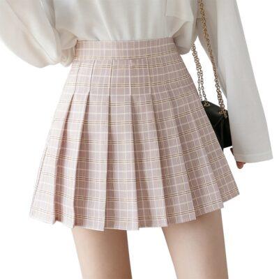 Women's Summer High Waist Plaid Mini Skirt 1